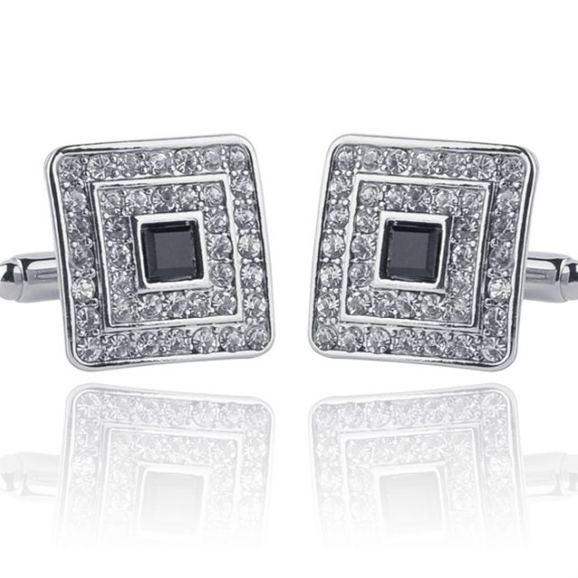 Crystal Golden Plated Cufflink