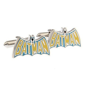 Yellow Batman Name Cufflink